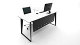 Black Ice Desk 1500mm Desk with modesty