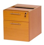 Stella Office Furniture Fixed Pedestal 1 Single Drawer & 1 Filing Drawer (S9)