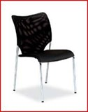 Mesh back stacking visitor chair