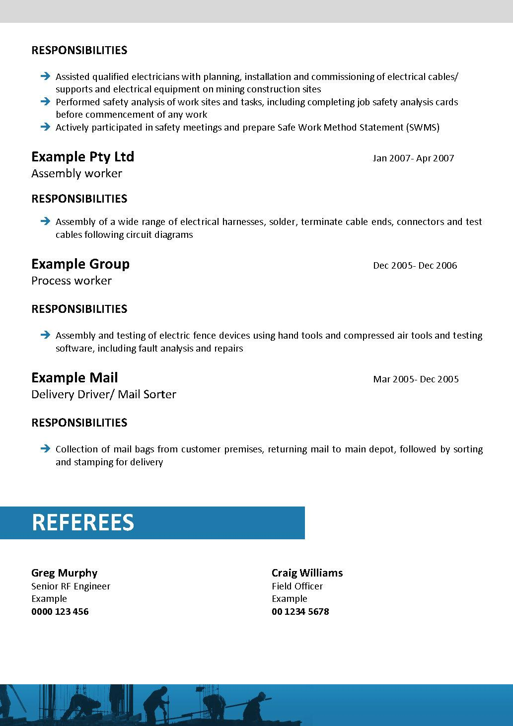 construction resume template 118