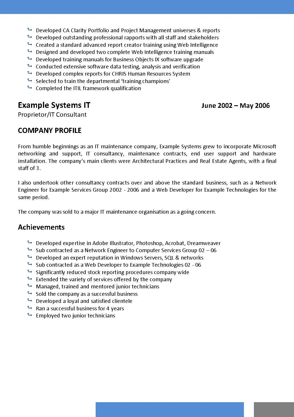 Review cutting edge resume