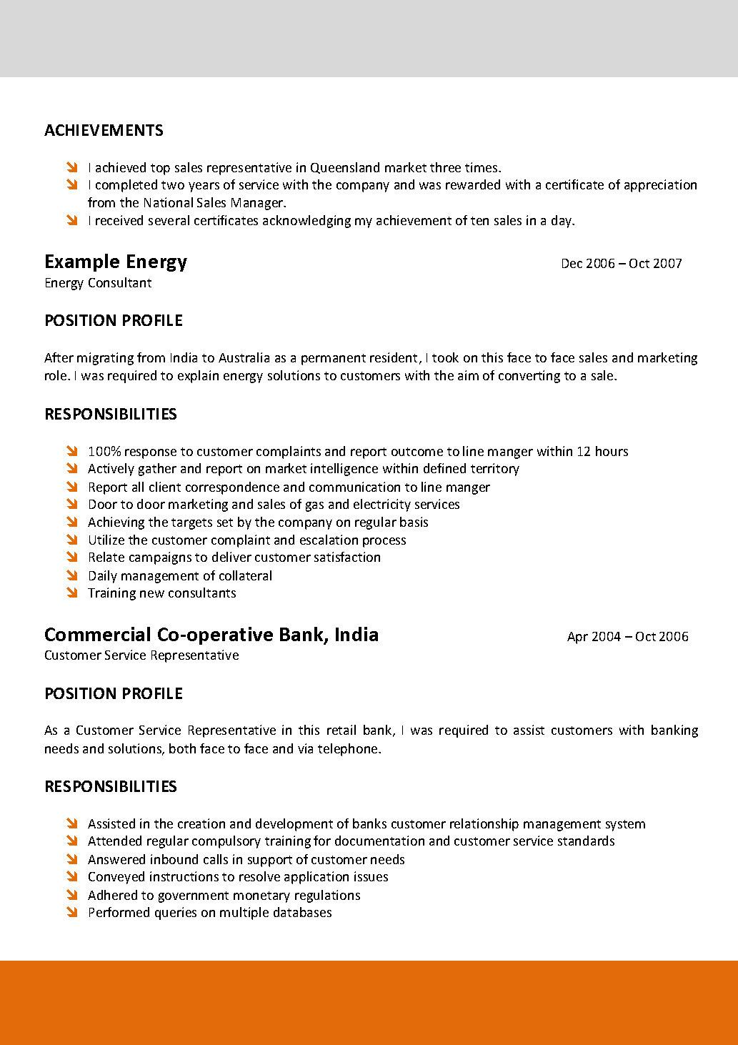 Resume Template Electrician Australia South Florida