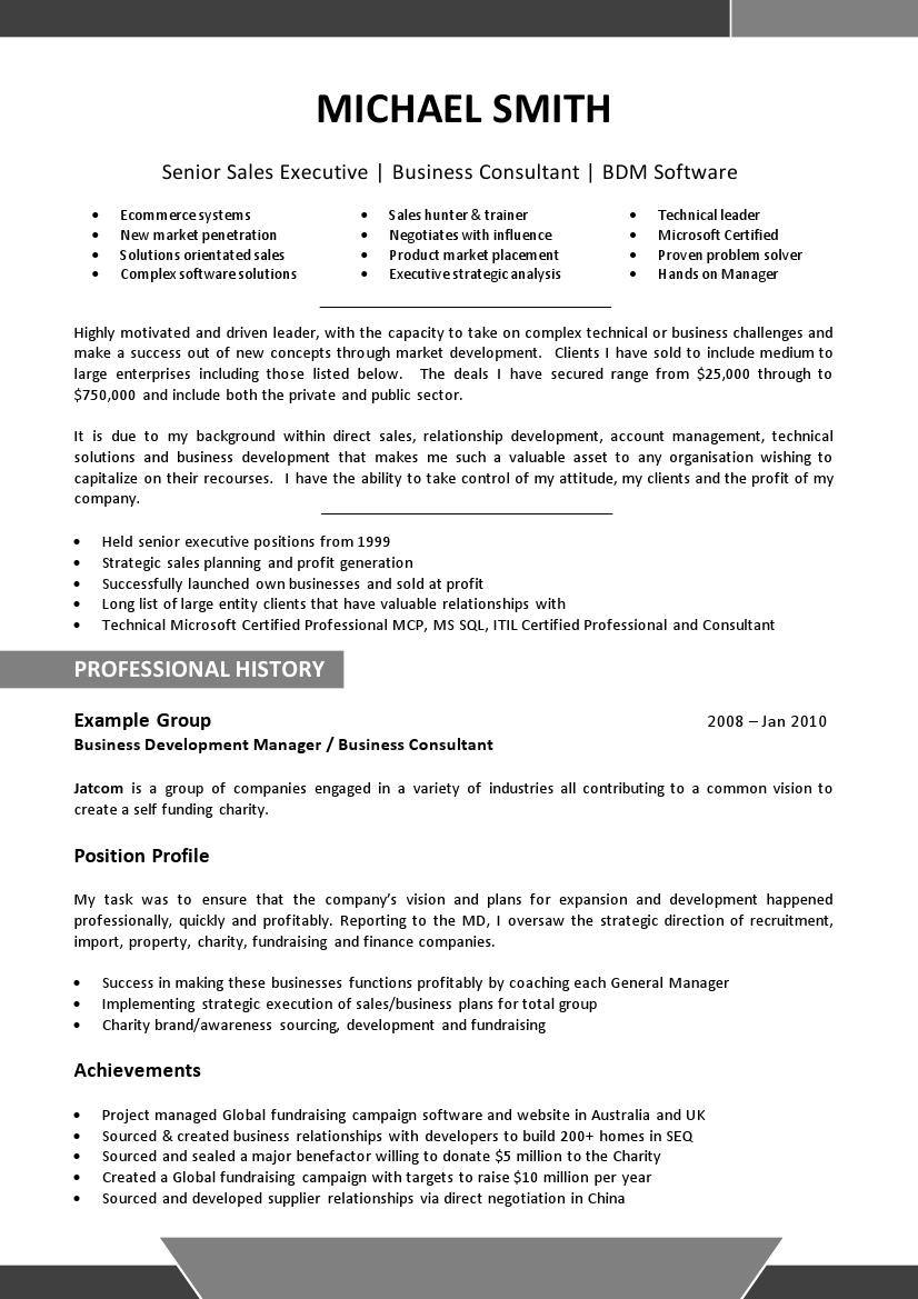 executive resume template 006