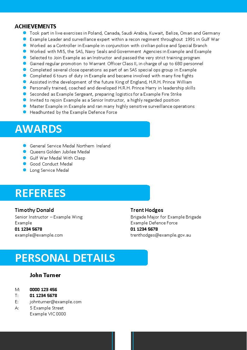defence resume template 056