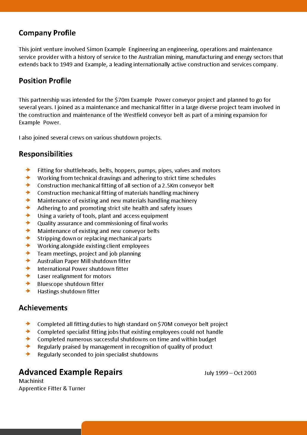 sample kitchen worker resume