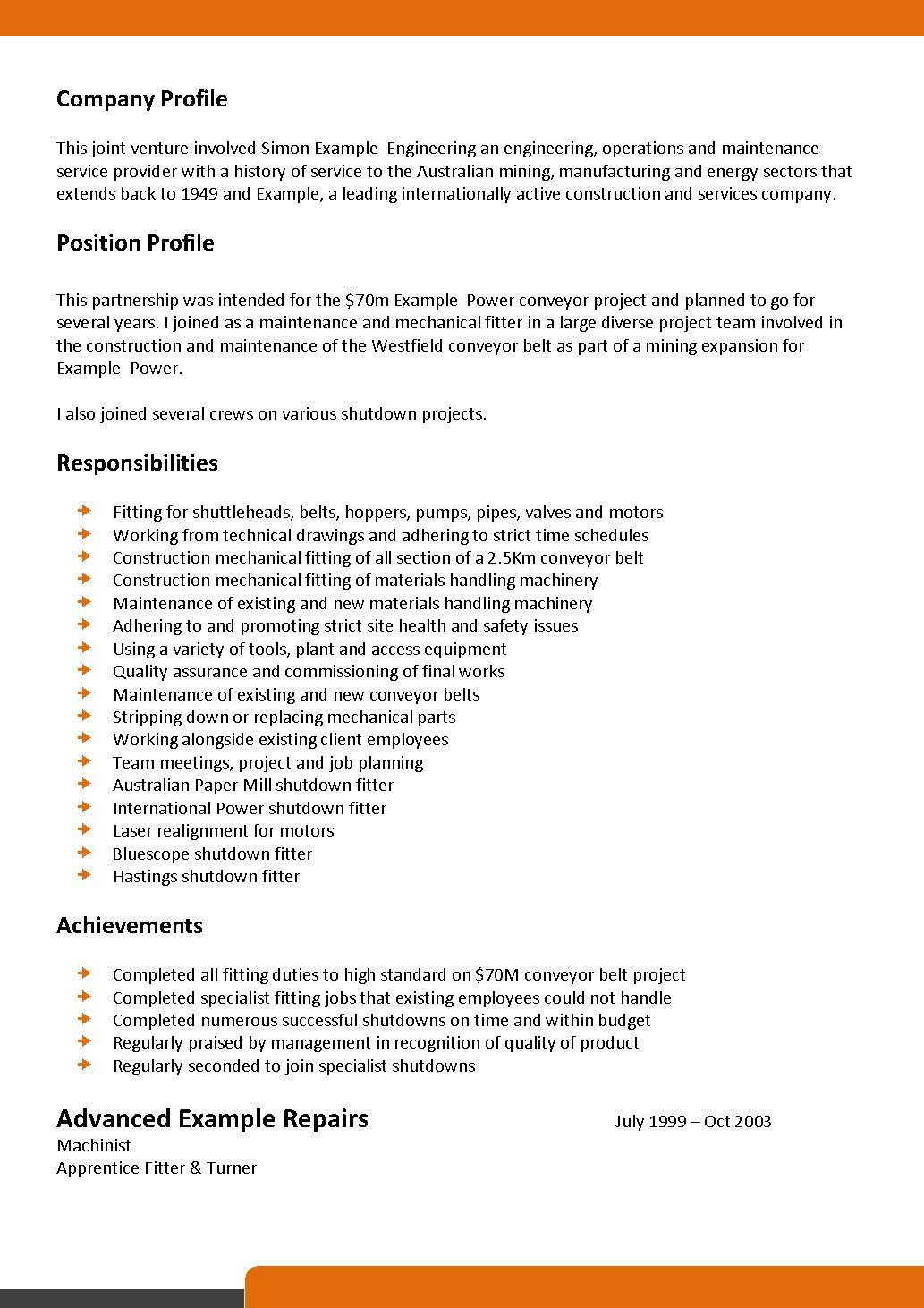 Mechanical and Maintenance Fitter Resume Template 093 : 82264862 from www.ashop.me size 1033 x 1462 jpeg 202kB
