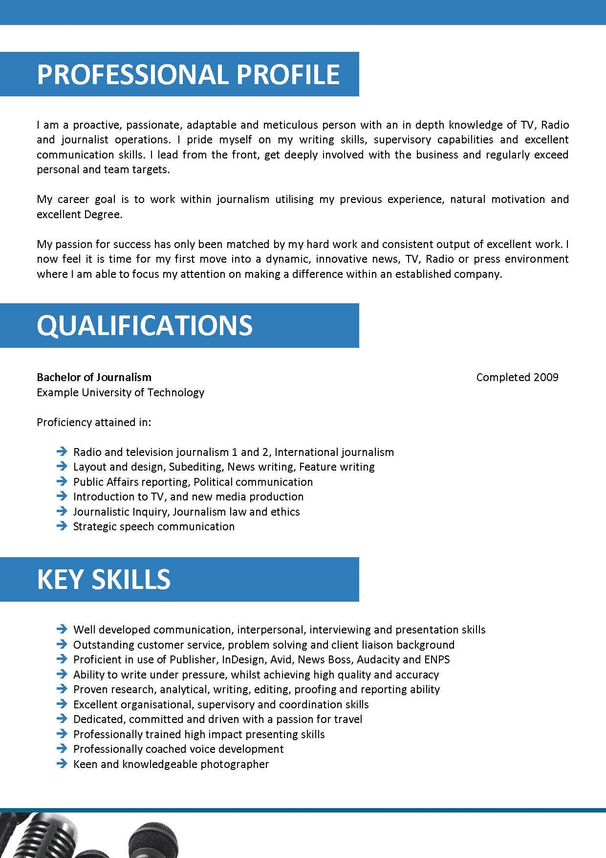 Resume Resume Sample Of Journalist journalism resume format samples visualcv database updated