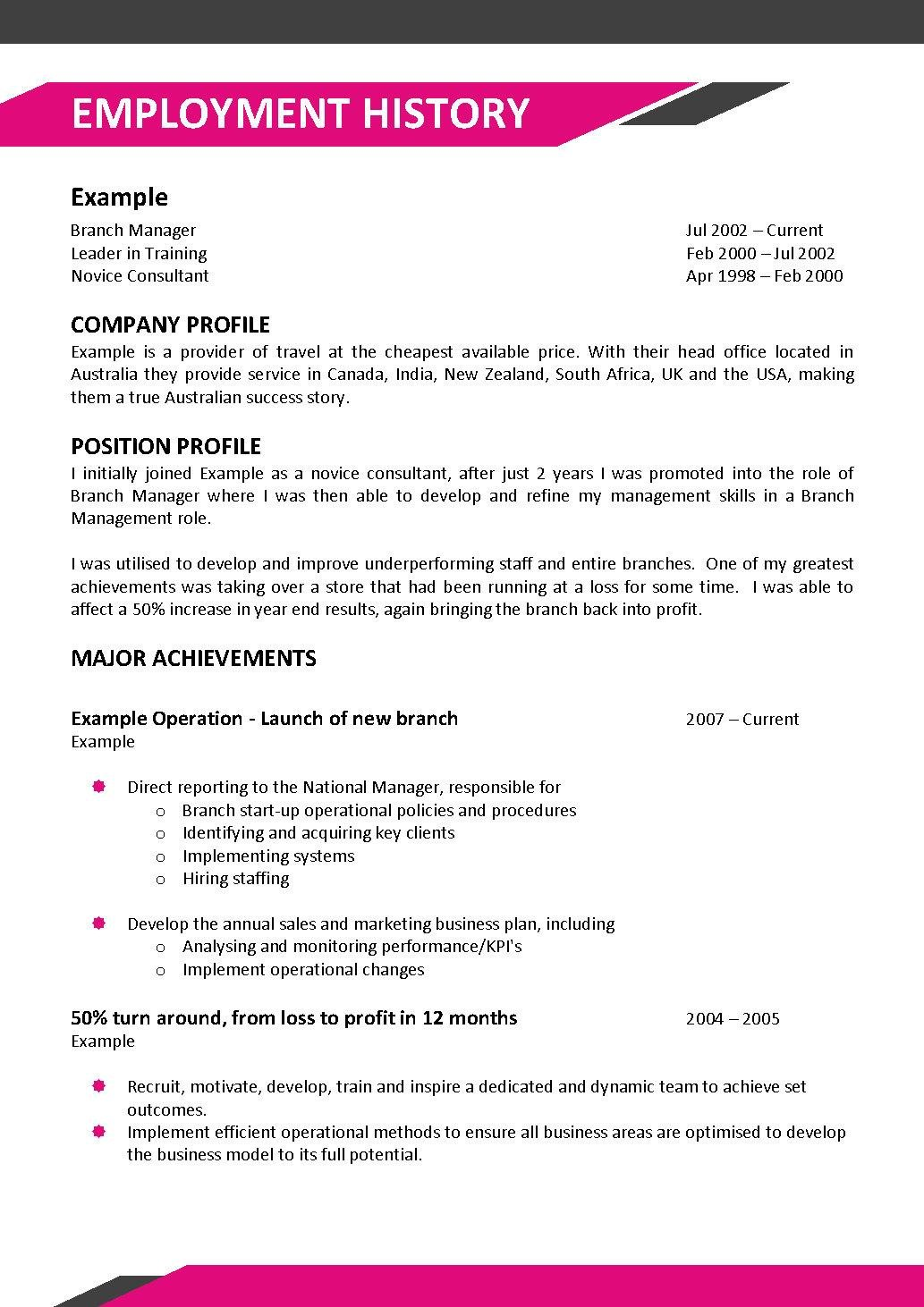Example Of Australian Resume : Example Resume Marketing Manager ...