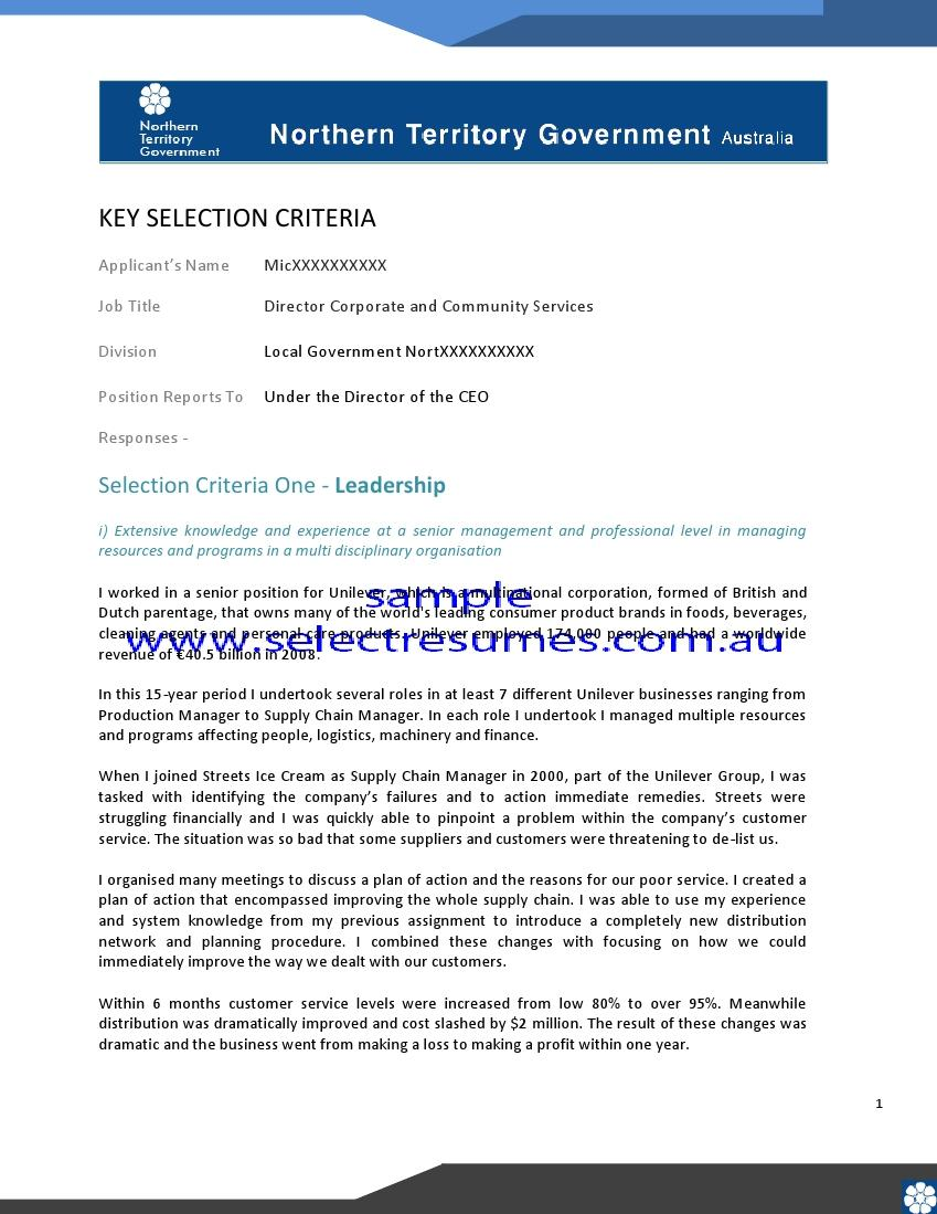 We can help with professional resume writing resume for How to address key selection criteria in a cover letter