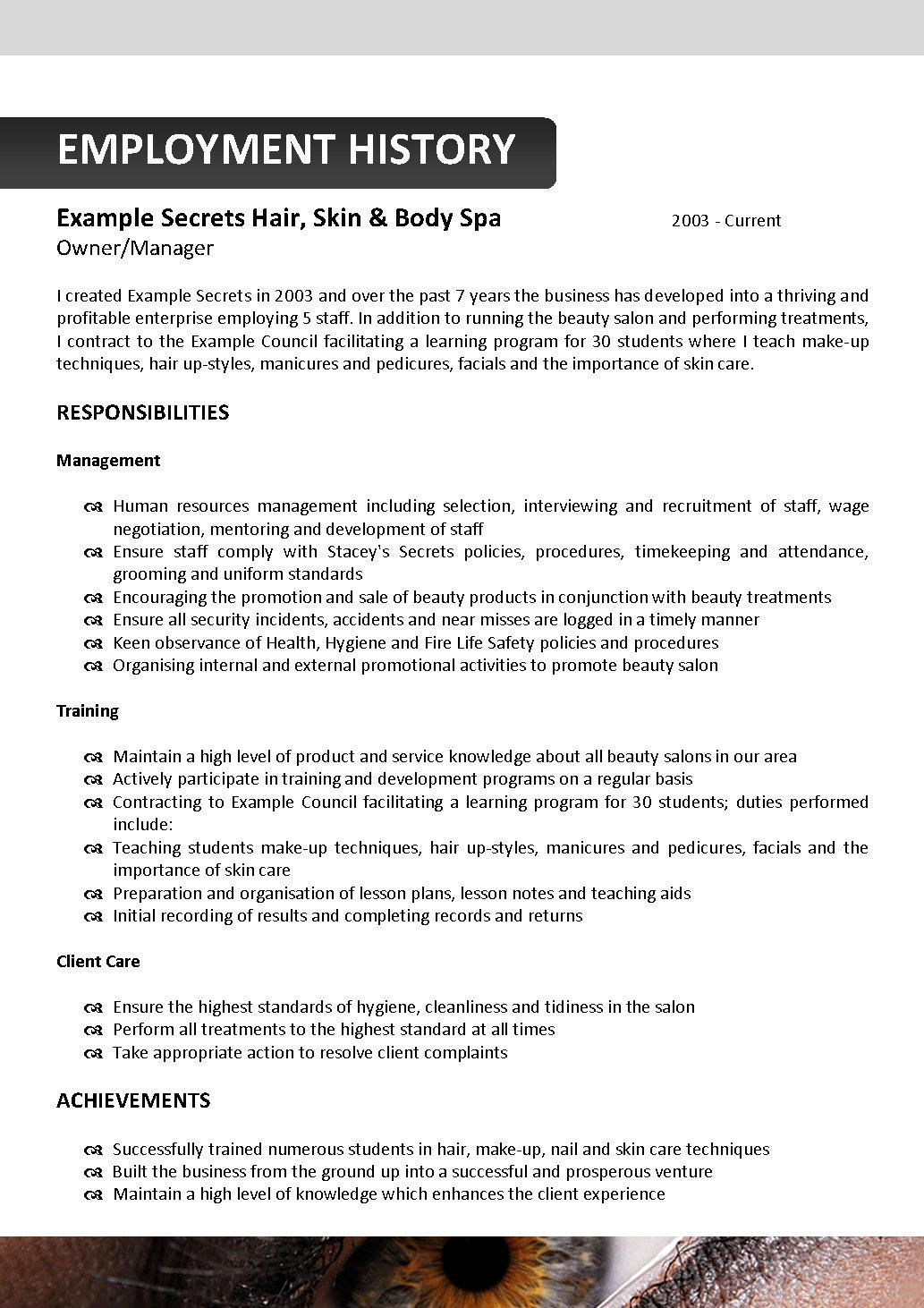 beautician resume template 122