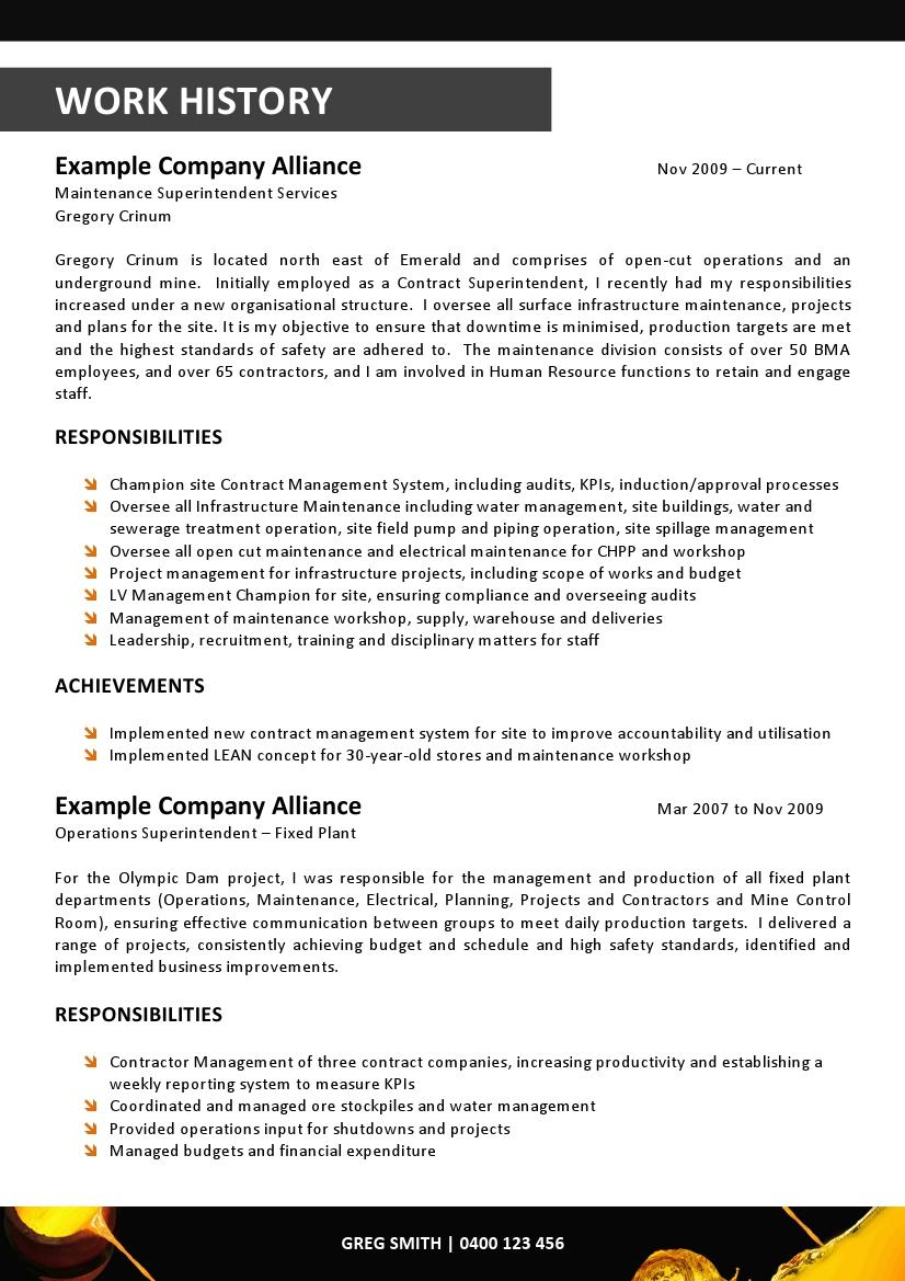 maker design project manager mining resume design 008 32 81 out of