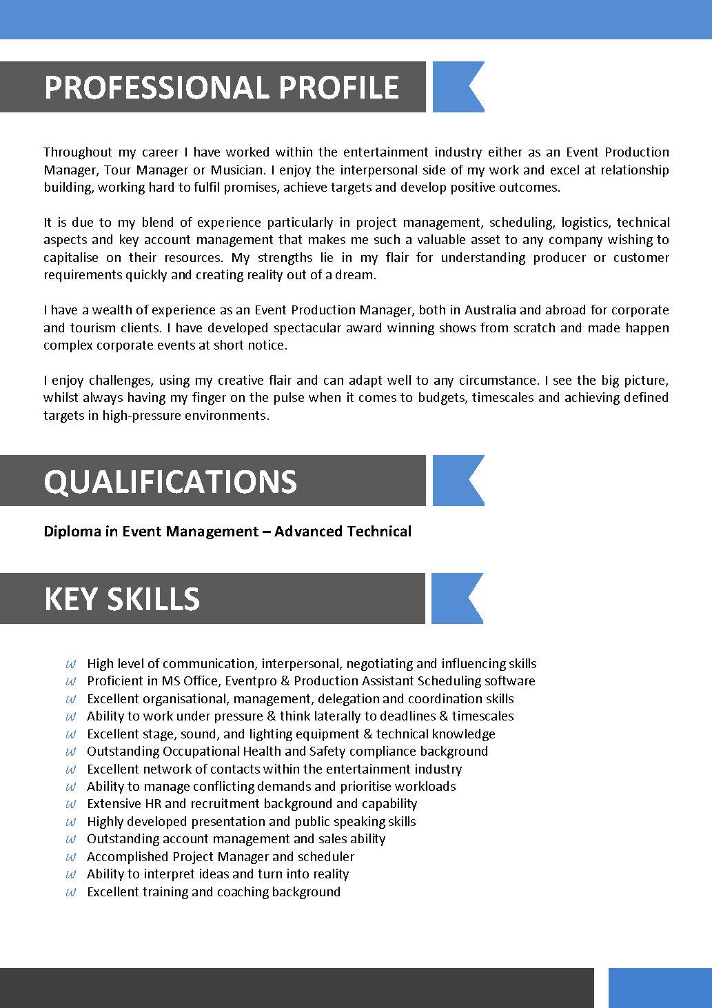 The Australian Resume   Joblers Sample Free Resume Resume Marketing Format Download Pdf Resume writing your  qualifications in cnc machinist resume
