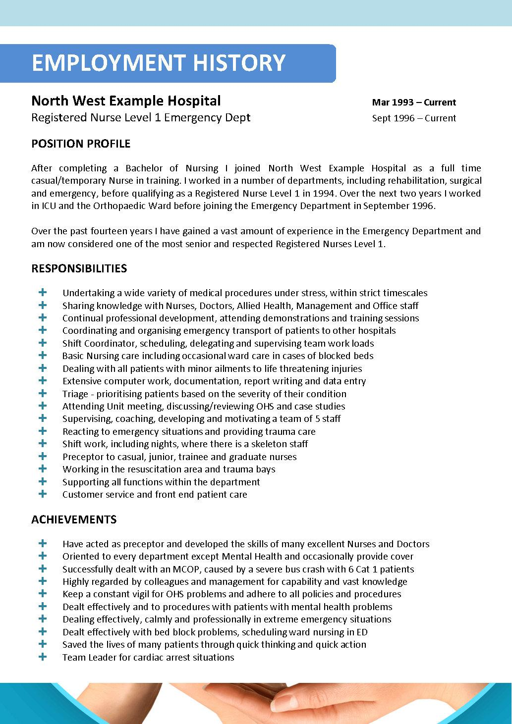 professional resume writing service for nurses