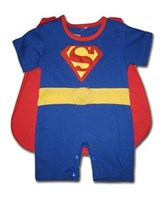 Superman 2 Pcs Outfit (Removable Cape & Half Legs) - Baby Boy Clothes