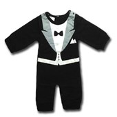 Best Man Tuxedo 1 Piece Onesie/Romper - Formal/Wedding Attire - Baby Boy Clothes