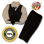Junior Groom Suit/Tuxedo - Formal/Wedding Attire - 4-Pcs Suit - Baby Boy Clothes