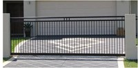 SLIDING GATE STYLE 3m - 3.5m long x 1600 high