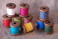 Paper String wound on Wood Bobbins