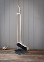 Dust pan and brush with long beech handle