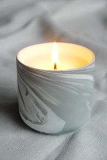 Boxed Wild Citurs Candle - Marbled Sage Bone China