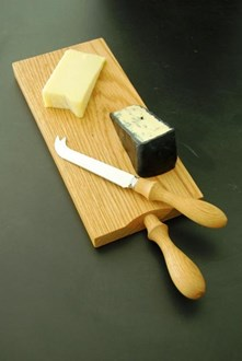 Oak Cheese Board and Knife