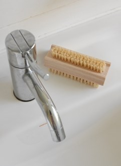 Nail brush fibre