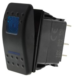 LV5109 - (Mom On)/Off Sealed Rocker Switch with 2 Blue LED's