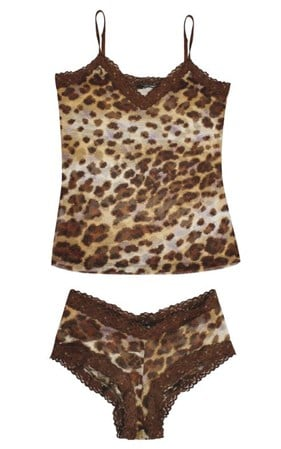 FINAL SALE - Anna Scholz - lace & leopard twin set