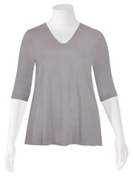 FINAL SALE - Weyre - dove relaxed scvee top