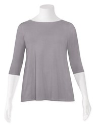 SALE - Weyre - dove relaxed boat neck top
