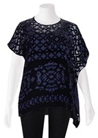 SALE - Verge - chateaux top in midnight - final clearance