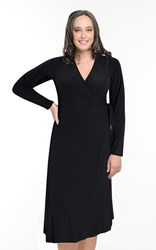 SALE -  Kathleen Berney - noir wrap dress - final clearance