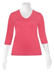 SALE - Olsen - vee elbow tee in coral - final clearance