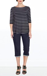 FINAL SALE - Weyre - dove stripe relaxed boat top