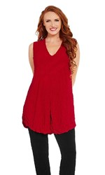 SALE - Kathleen Berney - flame split patch tunic
