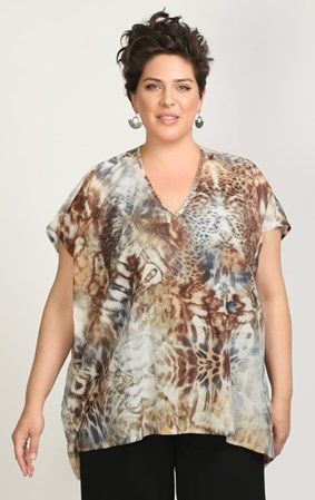 Ginger - eye of the tiger top