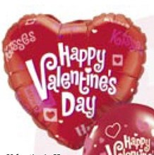Happy Valentines Hugs Kisses (Balloon-In-A-Box)