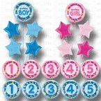 BIRTHDAY BALLOONS BOUQUET 1ST 2ND 3RD 4TH 5TH