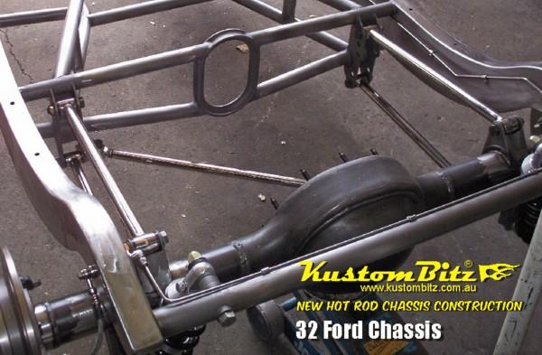 Street Rod Front Axle : Ford hot rod chassis construction new reproduction