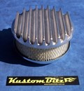 Air Cleaner 6 inch Flat Top Finned - Holley diameter 5' 1/8' inch neck