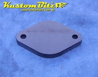 Hot Rod Chassis Crossmember Back Plate - Blank, Diamond Round, 10mm thick for smaller 38mm Tube