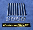 Holden 6 Cyl Bolt Kit 186 & 202 - AussieSpeed Valve Cover Alloy, bolts Only [Silverz]