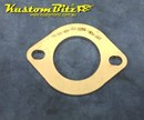 Exhaust Flange Plate 2 bolt Slotted 2 1/2  inch 10mm thick ~ Stainless Steel