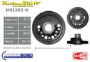 Ford 289, 302 Windsor V8 Powerbond Harmonic Balancer 3 Bolt [Raised pulley location] - OEM Replacement