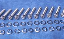 Holden 6 Cyl Bolt Kit 186 & 202 - suits AussieSpeed Side Plates Polished Stainless Steel [Socket Caps]