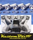 Ford Cleveland V8 Bolt Kit Polished Stainless Steel - Inlet Manifold TFC air gap high rise single plane alloy [KustomBitz Socket Caps]