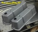 Holden V8 5.0 Alloy Rocker Covers suit later VN style heads -  Pro-Street Panel Tops Raw Shot Blasted