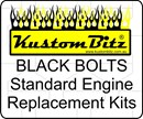 Holden V8 Bolt Kit - Water Pump Pulley bolts Only [Black Bolts] for install with no fan