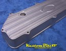 Ford crossflow 4.1 Finned tall alloy valve cover - RAW shot blasted Alloy