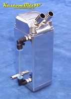 Oil Catch Can Polished Alloy 1 litre capacity - Square